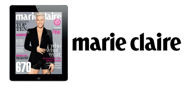 marie claire Reveals First iPad Edition – Pink 'comes to life'